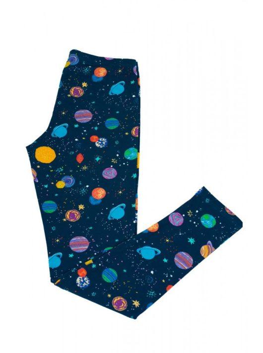 Bolygó mintás lányka leggings hosszú szárral