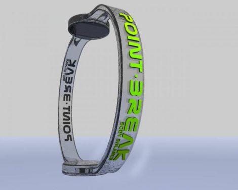 Point Break hologramos karkötő 15 Transparent/Stabilo Green